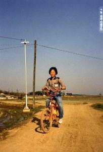 자전거를 타고 있는 모습