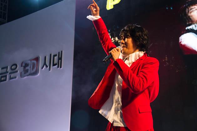 가수 김장훈씨의 공연하는 모습3