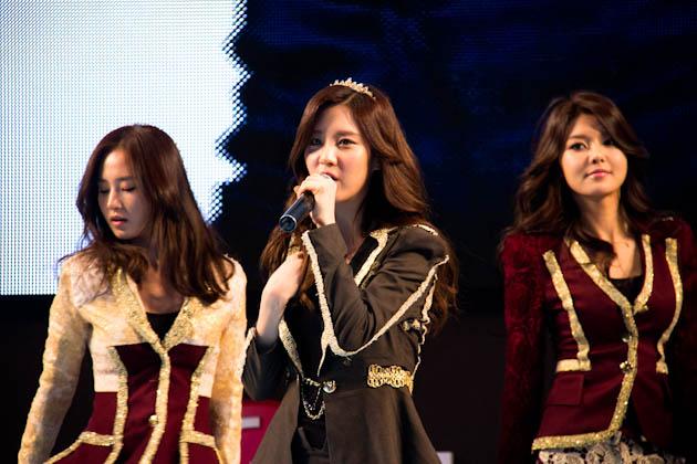 걸그룹 소녀시대의 공연하는 모습4