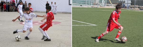 중동지역 어린이들의 축구 하는 사진2