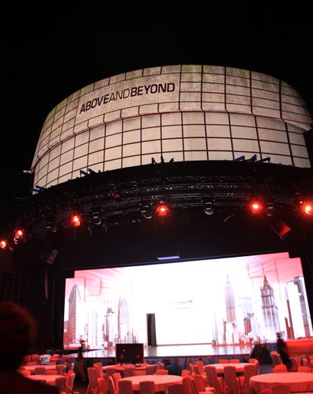 '살 데 에뚜와(Salle des Etoiles)' 에서 열린 LG 올레드 TV 신제품 발표회 행사장 사진