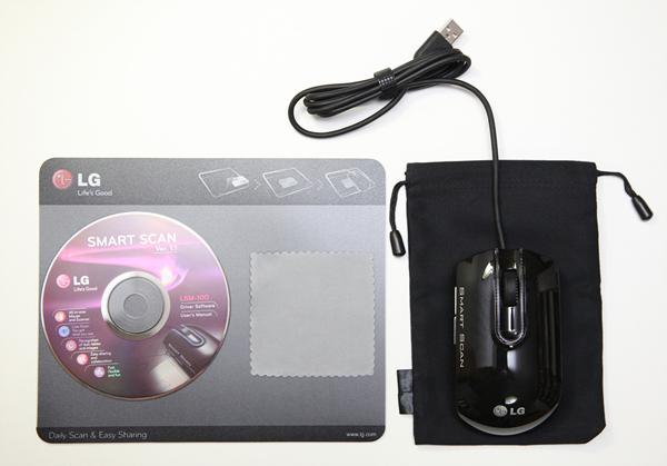 CD, 마우스패드, 청소용 천, 파우치, 마우스 스캐너 사진