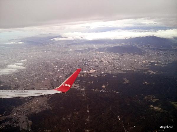 비행기에서 내려본 전경 사진 2