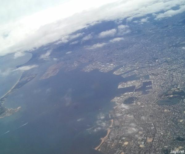 비행기에서 내려본 전경 사진 1