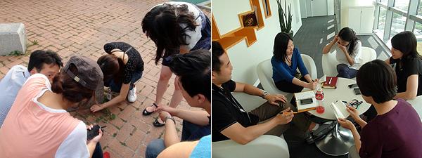 직원들의 토론하는 모습