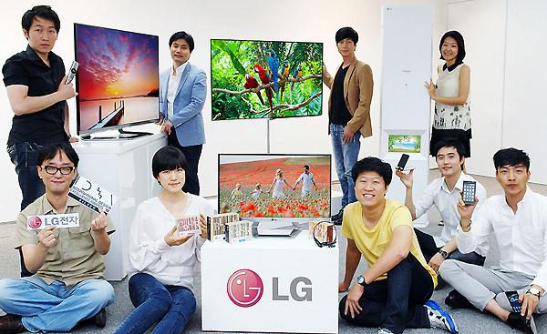 LG전자는 올레드 TV를 비롯한 주요 전략 제품들 사진