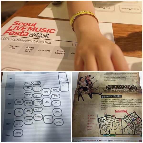 페스티벌 손목 티켓, 안내지 사진