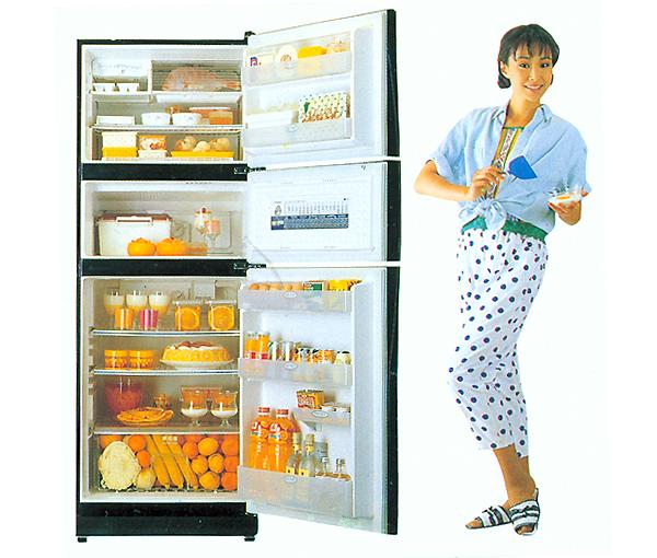 옛날 냉장고 CF 사진