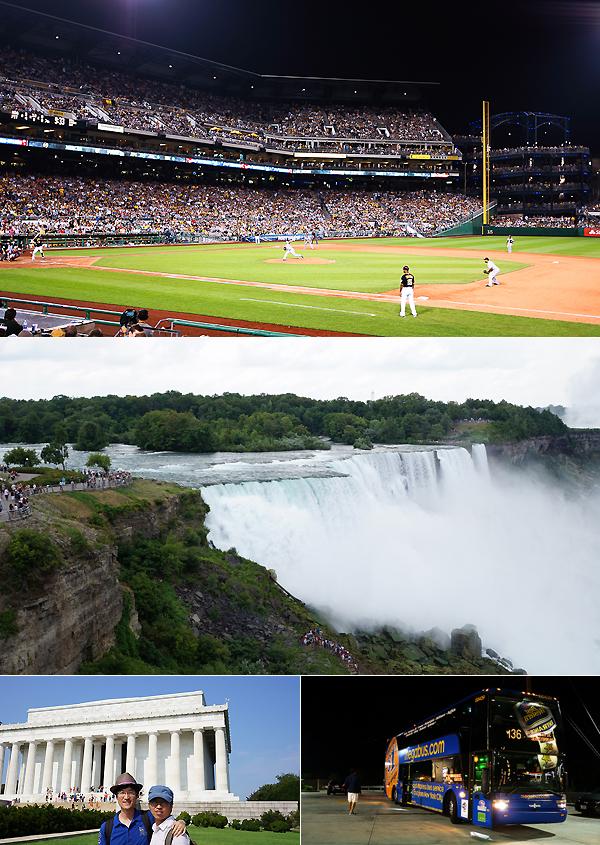 야구 경기장, 폭포 사진