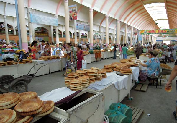 다지키스탄의 시장 사진