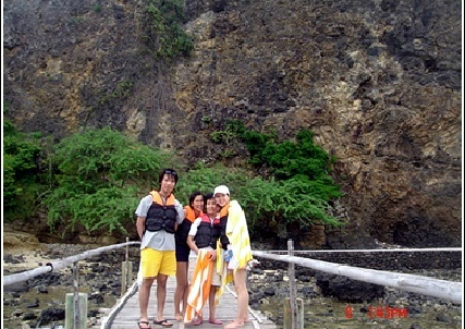 필리핀에서 찍은 가족 사진