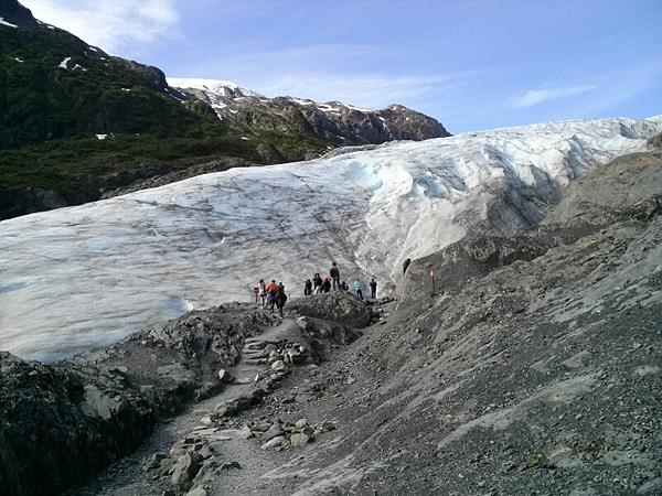 시워드의 산 빙하 사진