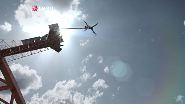 옵티머스의 TV 광고 사진