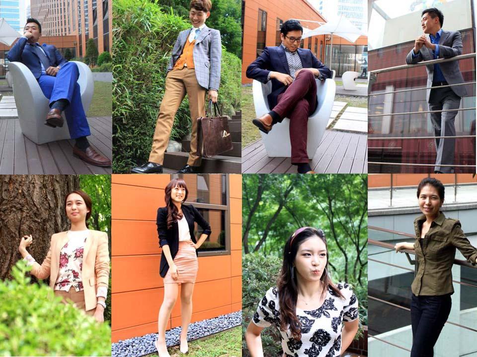 직원들의 사진