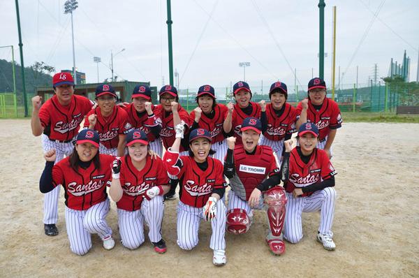 선수들의 단체 사진