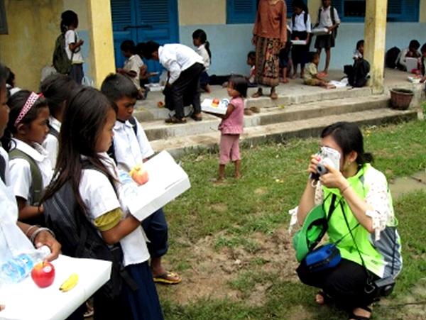 캄보디아 아이들의 모습