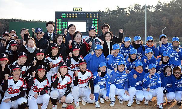 서울 블랙펄스와 고양 레이커스 단체 기념 사진