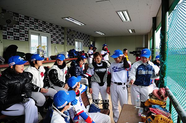 야구선수들의 모습