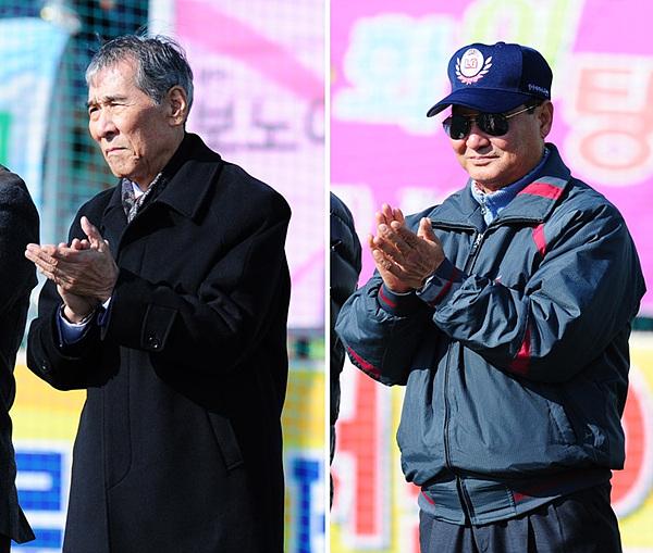 (좌) 한국여자야구연맹 김영덕 자문위원 (우)전 LG 감독 이광한 감독 사진