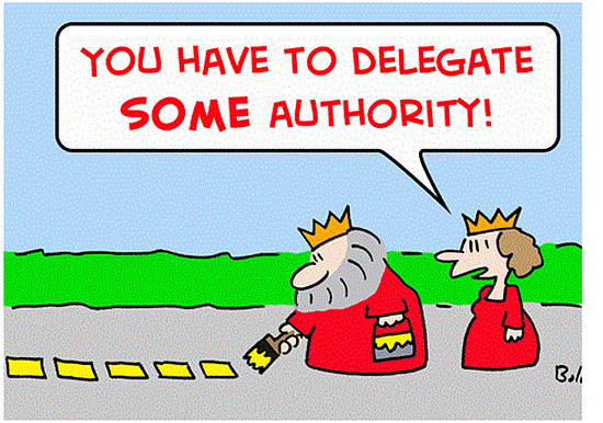 You Have To Delegate Some Authority