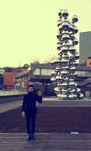 미술관 앞 사진