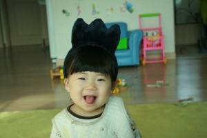 웃고있는 아기