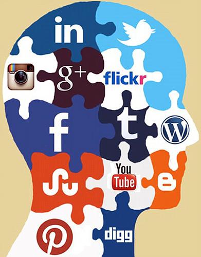 다양한 소셜 아이콘들의 퍼즐