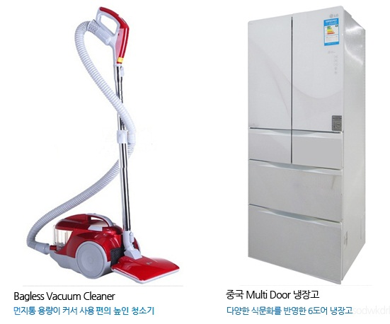 Bagless Vacuum Cleaner와 중국 Multi Door 냉장고