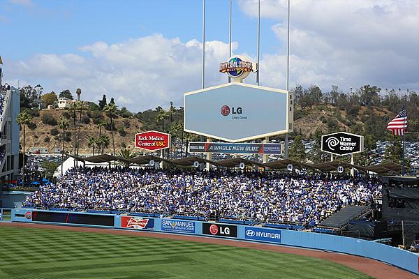 LA Dogers 경기장의 LG
