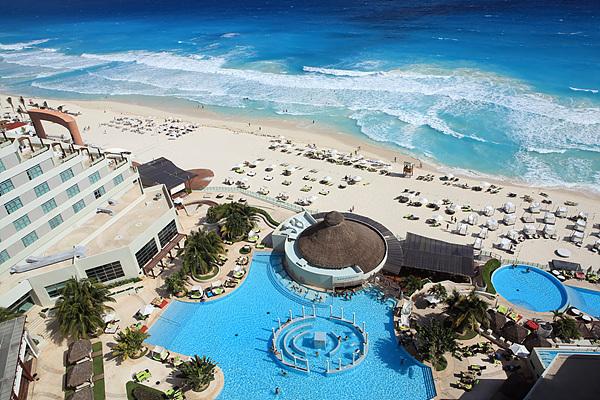 카리브해의 아름다움. 칸쿤