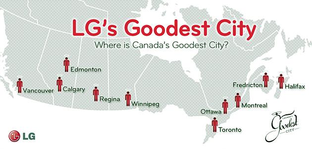 캐나다에서 가장 친절한 도시