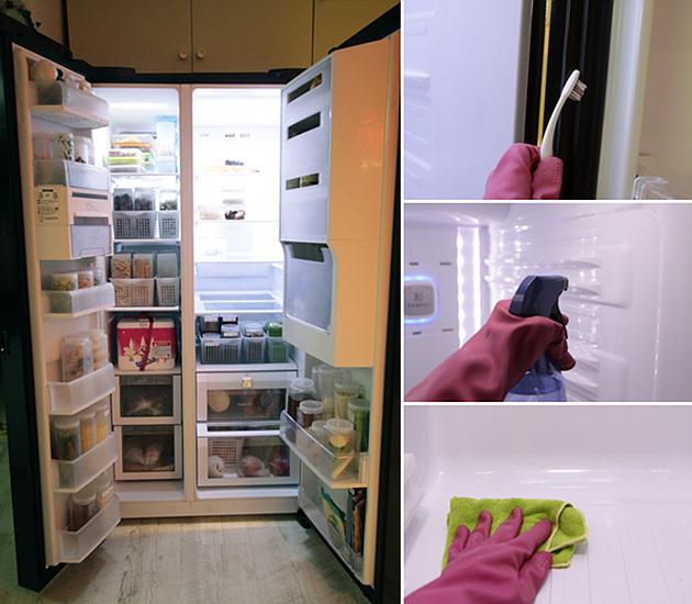 냉장고 내부 청소하기