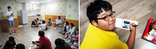 포켓포토 스토리북 만드는 아이들