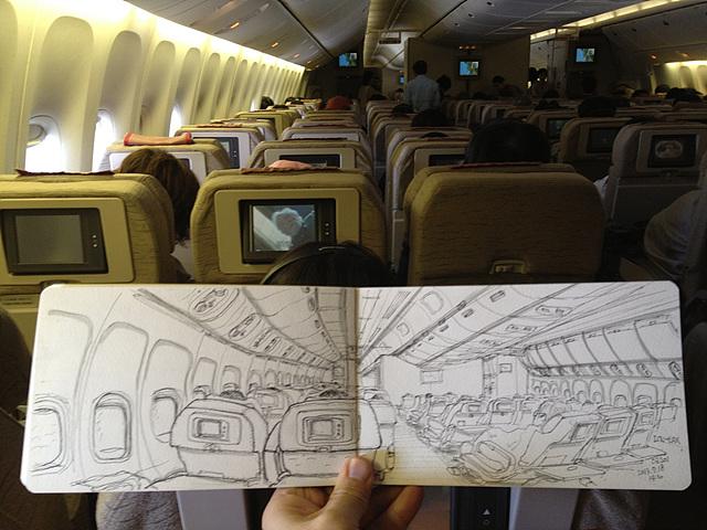 비행기 내부2