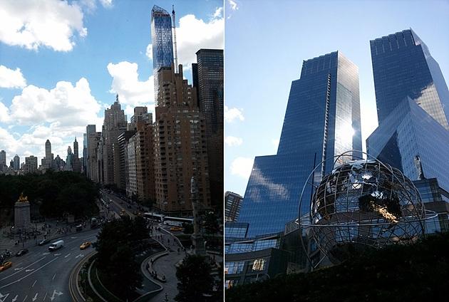 'LG G2 Day' 행사 당일 뉴욕의 전경은 높은 빌딩들로 가득하다.