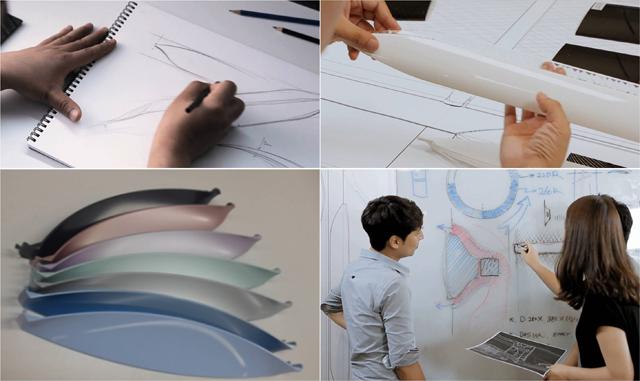 디자인 스케치 및 테스트 과정