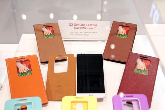 LG G2의 퀵윈도우 가죽 케이스