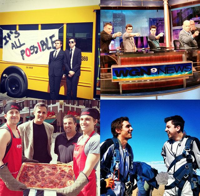 미국 유명 영화배우 데이브 프랑코(Dave Franco)와 크리스 민츠-플라세(Chris Mintz-Plasse)가 일주일간 미대륙을 횡단하는 길거리여행을 다니며 LG G2로 촬영해 소셜미디어에 공유한 사진들