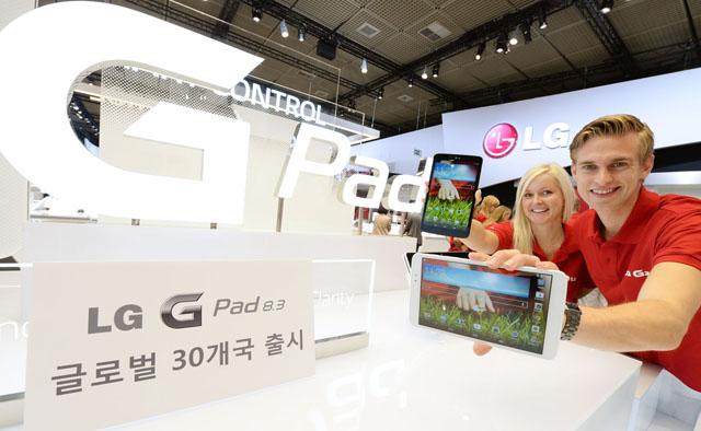 LG전자, 'LG G Pad 8.3' 세계 30개국 출시