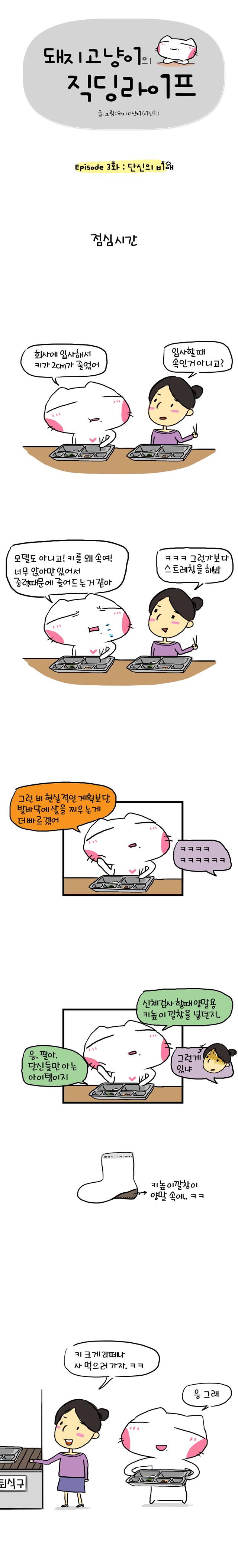 돼지고냥이의 직딩라이프 3화 (1)
