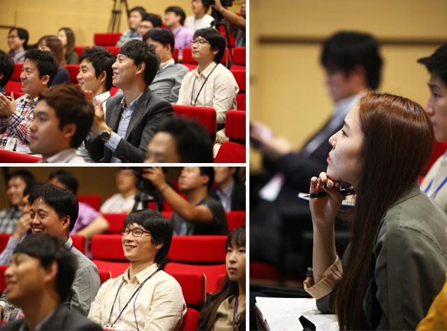 이그나이트LG 경청하는 참가자들의 모습이다
