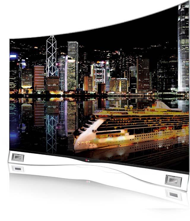 최근 국내외 친환경 인증을 연이어 획득한 LG전자 55인치 곡면 올레드 TV(모델명:55EA9800)