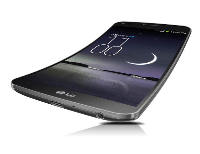LG전자의 첫 커브드 스마트폰 LG G 플렉스 제품 사진
