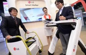 LG전자, '대한민국 R&D 대전'서 노약자용 로봇 기술 선보여