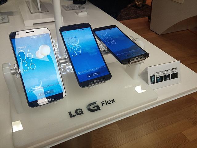 LG G Flex의 스윙 언락화면