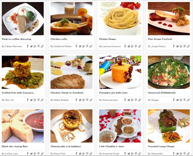 lgcooking.com에 요리대회 참가자들의 레시피가 공개 되었다