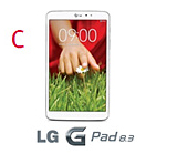 최고의 제품상 세번째 후보로 화이트 컬러의 LG G패드 8.3 모습이다