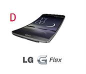 최고의 제품상 네번째 후보로 블랙 컬러의 LG G Flex 모습이다