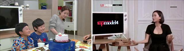 KBS드라마 왕가네 식구들과 OnStyle 도전 수퍼모델 코리아 4에 나온 클래식 TV의 모습이다.