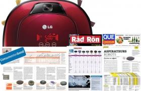 LG전자 로봇청소기가 최근 유럽의 유력 소비자 전문지인 네덜란드 컨슈머가이드(Consumentengids), 프랑스 끄슈와지르(Que Chosir), 스웨덴 라드앤론(Rad&Ron)으로부터 로봇청소기 부문 제품평가 1위를 차지했다.